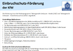 KfW-Einbruchschutzförderung - Gebrüder Quante Südkirchen