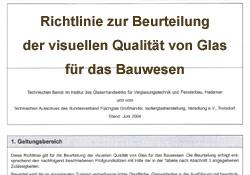 Gebr. Quante Südkirchen Fenster - Richtlinie Glas