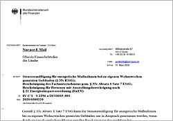 Musterbescheinigung BFM - Gebrüder Quante Südkirchen